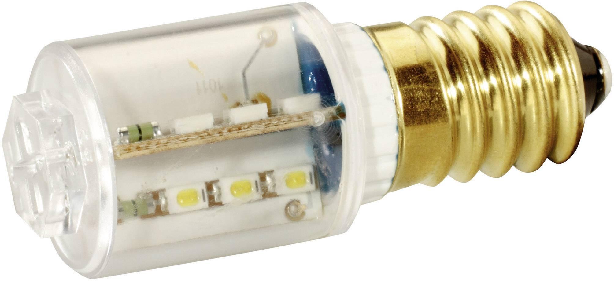 LEDžiarovka Signal Construct MBRE141278, E14, 230 V/DC, 230 V/AC, 7500 mlm, zelená