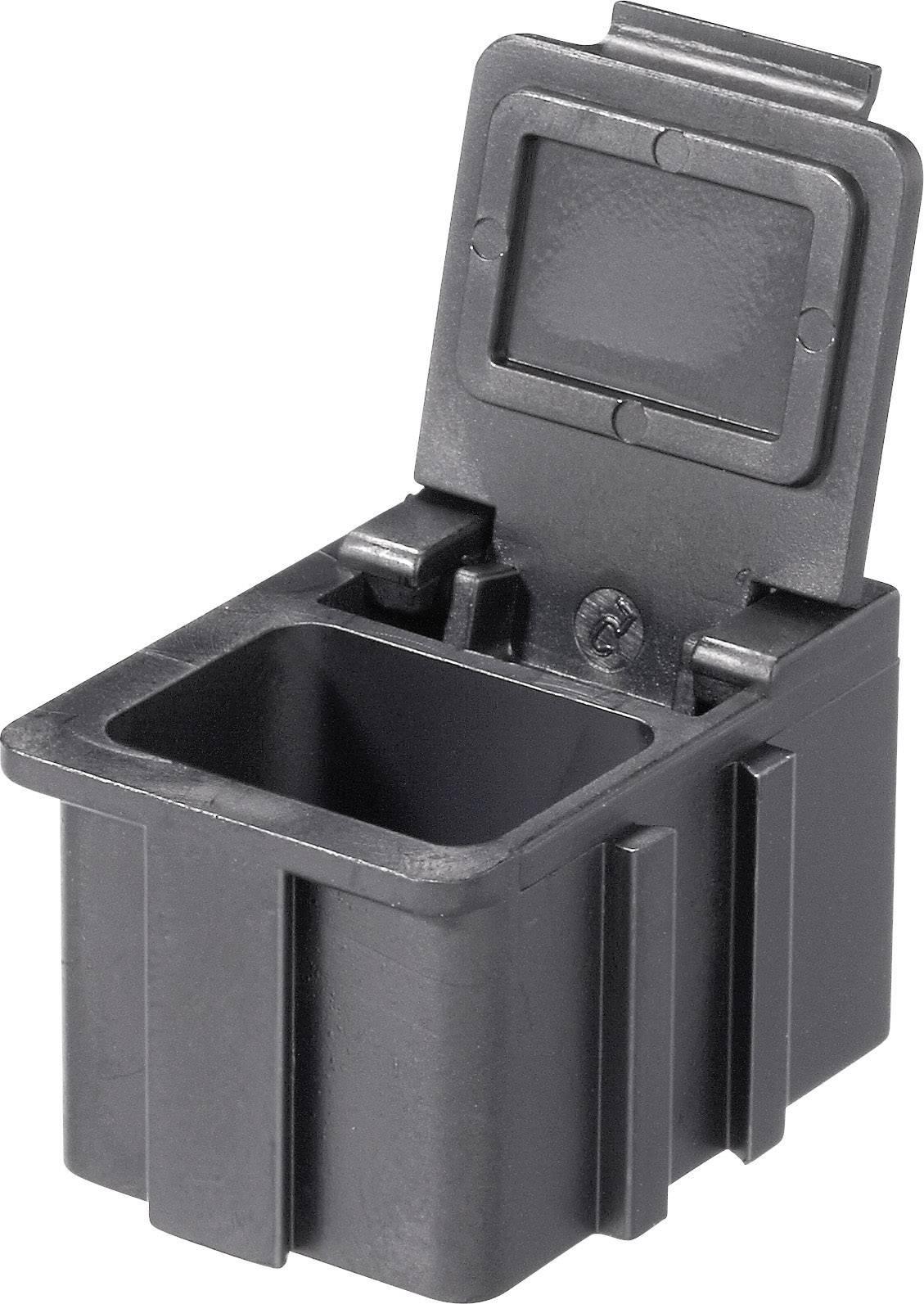 Box pro SMD součástky Licefa, N1661010EGB, 16 x 12 x 15 mm, černá