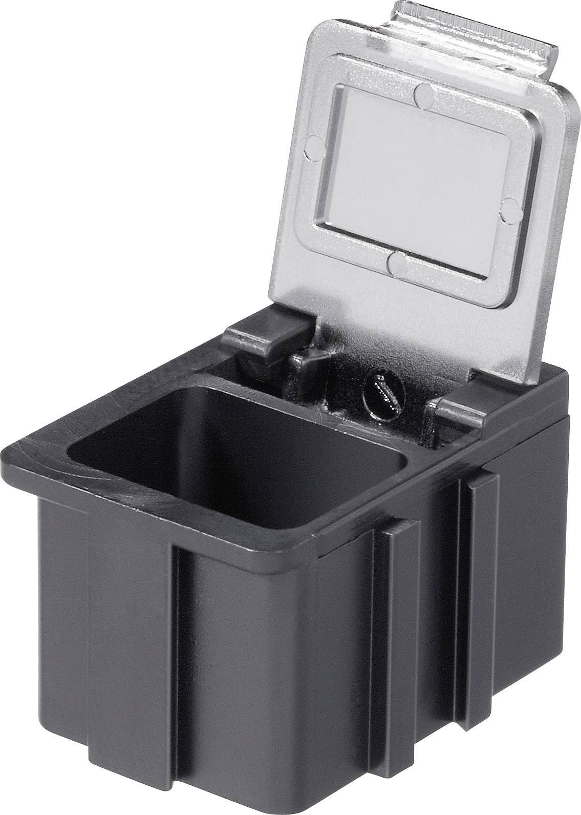 Box pro SMD součástky Licefa, N168101LS, 16 x 12 x 15 mm, černá