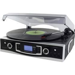 USB gramofon soundmaster PL525, přímý pohon, černá