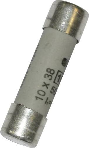 Jemná poistka TRU COMPONENTS TC-1038317, 1 A, 500 V, (Ø x d) 10.3 mm x 38 mm, pomalý -T-, 1 ks