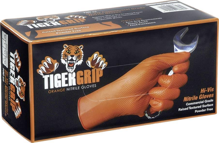 Kunzer TIGER GRIP L Nitrilové jednorázové rukavice 100 ks