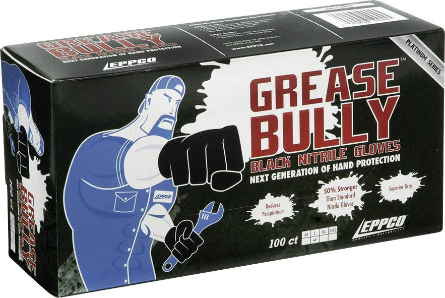 Kunzer Grease Bully L Nitrilové jednorázové rukavice 100 ks