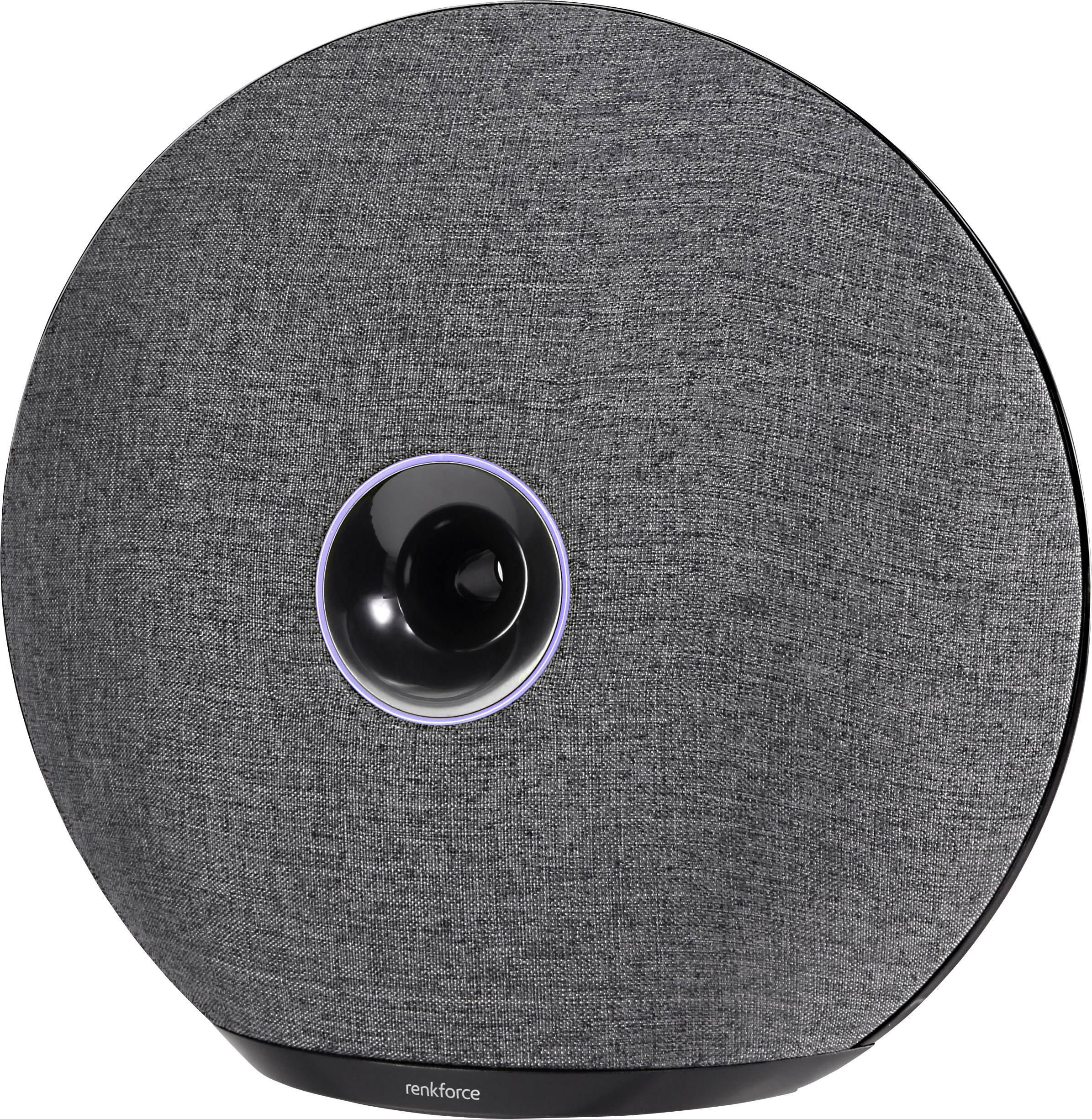 Stereo Bluetooth® reproduktor Renkforce Oyster1, čierna