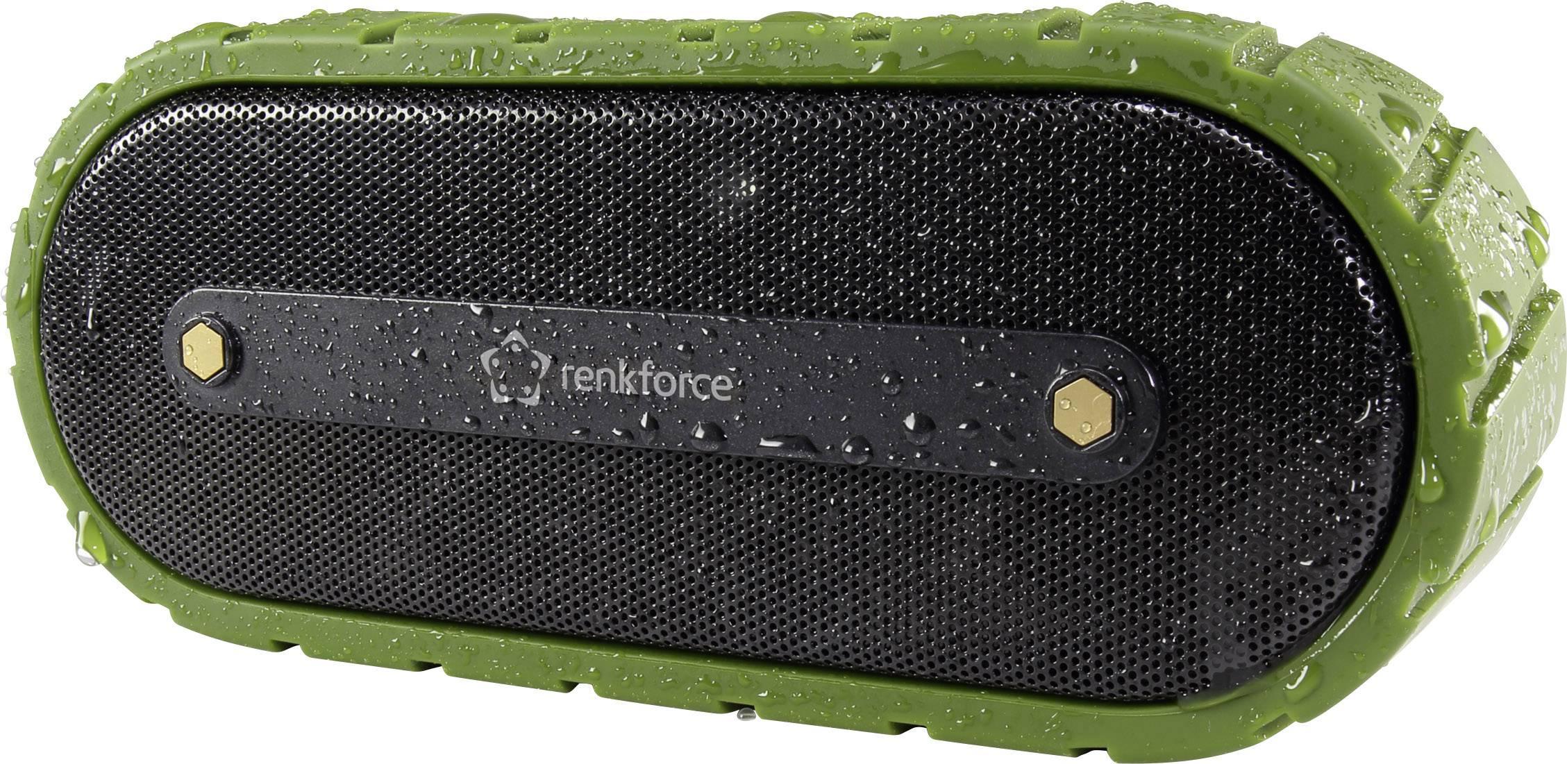 Stereo Bluetooth® reproduktor Renkforce AdventureBox1, čiernozelená