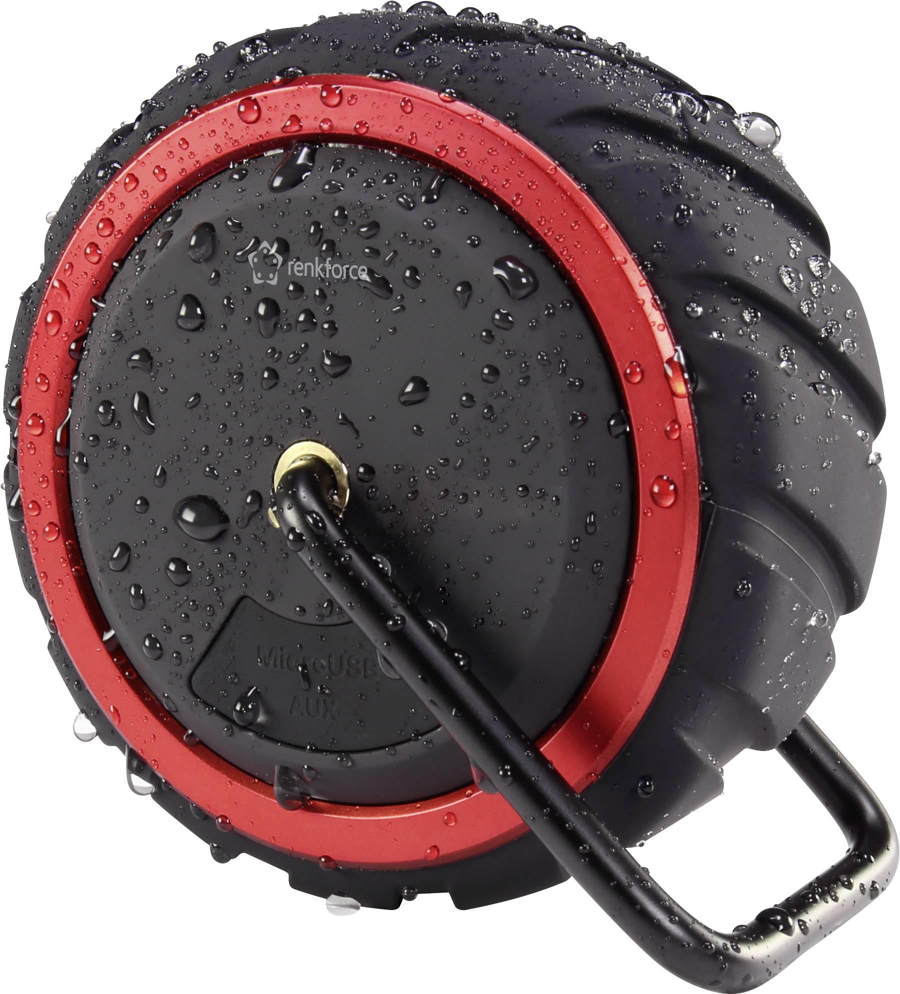 Bluetooth® reproduktor Renkforce AdventureWheel1 hlasitý odposluch, odolná/ý striekajúcej vode, AUX