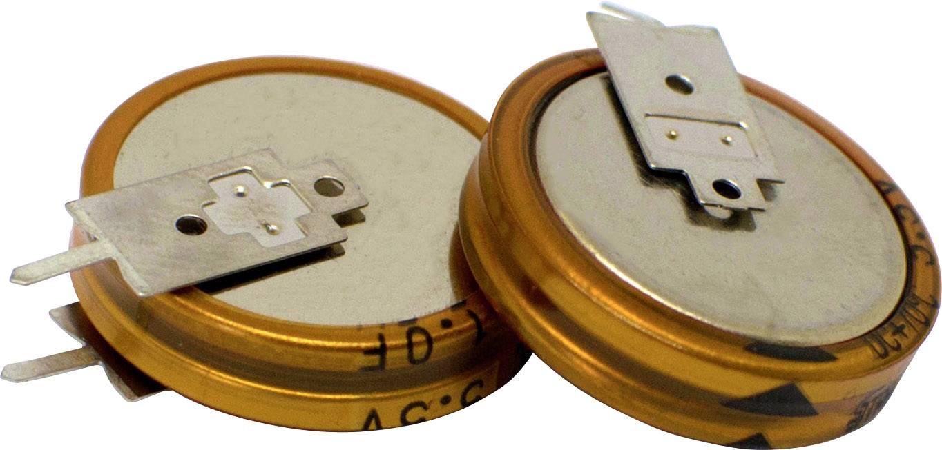 Dvouvrstvý kondenzátor Korchip DCS5R5104VF, 0.1 F, 5.5 V, (Ø x v) 11.5 mm x 12.5 mm, 1 ks