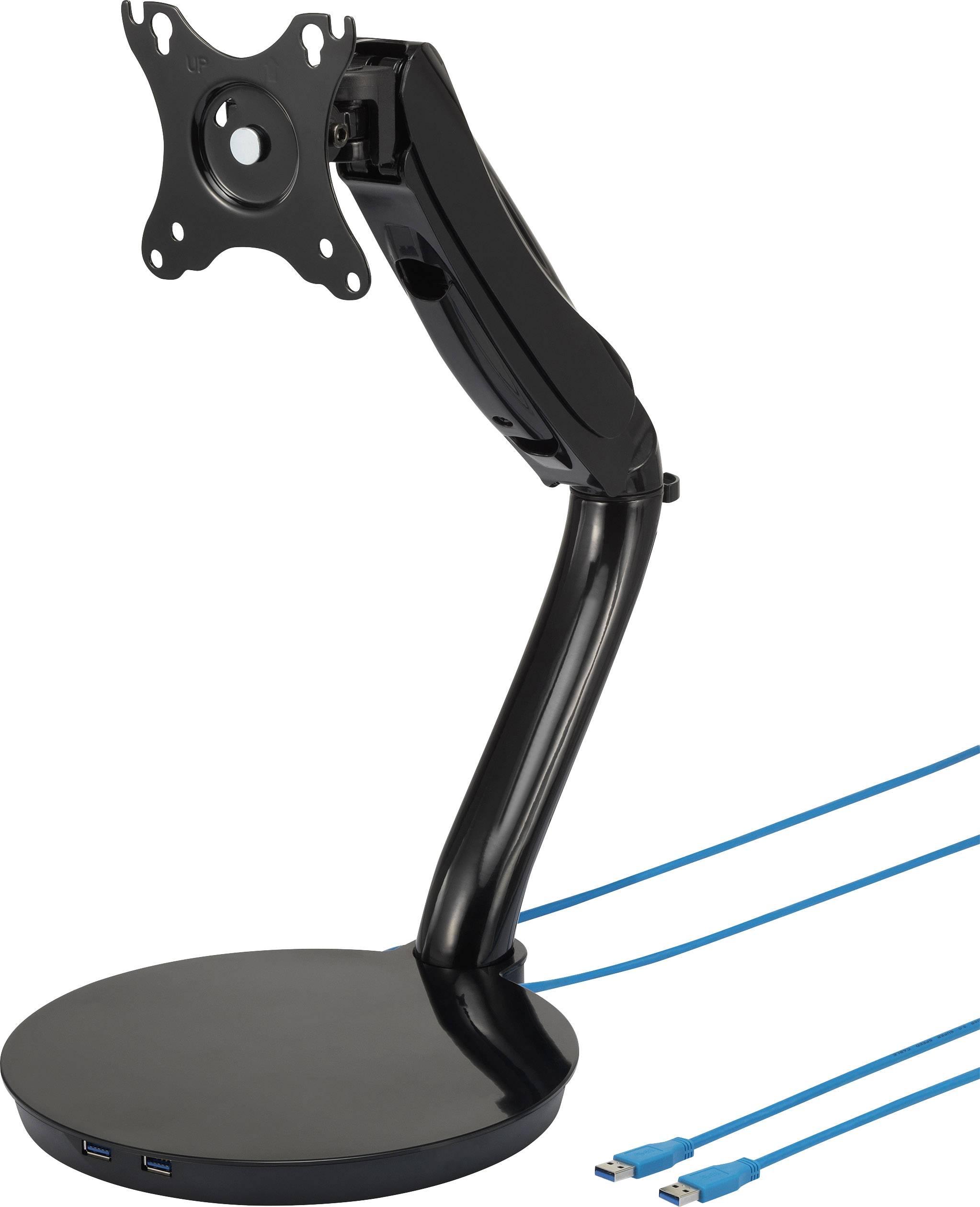 """Stolový držiak monitoru SpeaKa Professional SP-6308936, 33,0 cm (13"""") - 68,6 cm (27""""), čierna"""