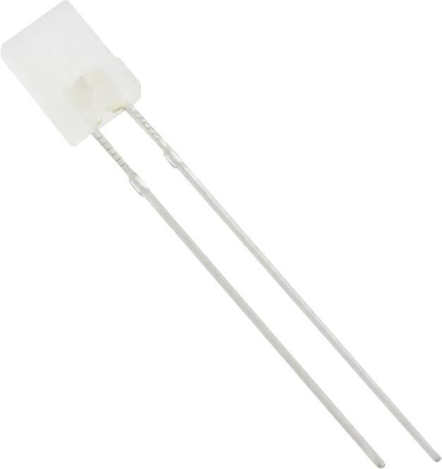LED s vývody TRU COMPONENTS, typ čočky hranatý, 2 x 5 mm, 120 °, 20 mA, 1250 mcd, bílá