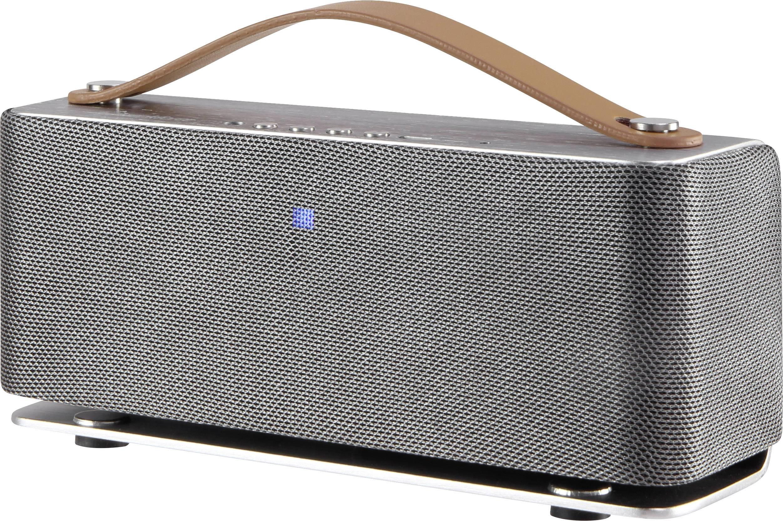 Stereo Bluetooth® reproduktor v retro štýle Renkforce RockBox1, strieborná