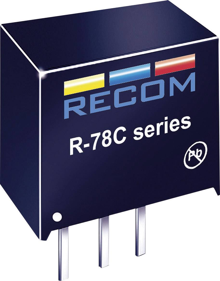 DC/DC měnič Recom R-78C5.0-1.0 (80999206), výstup 5 V/DC / 1 A, SIP 3