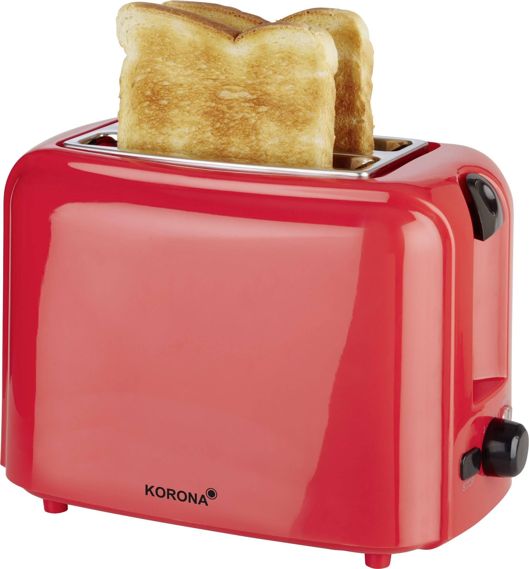 Topinkovač s funkcí ohřívání pečiva Korona 21032, červená