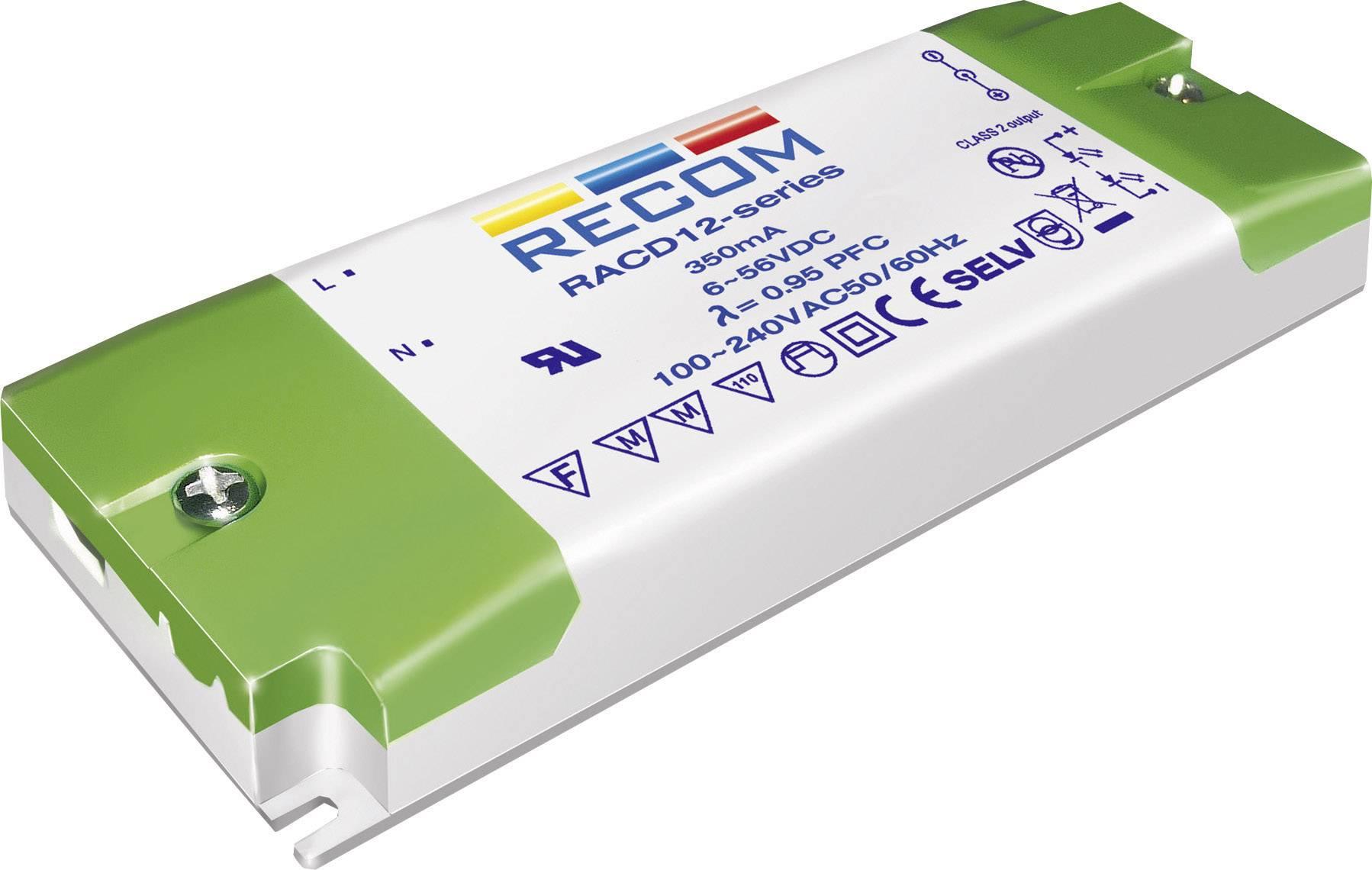 LED driver Recom Lighting RACD12-700, 12 W (max), 0.7 A, 3 - 17 V/DC
