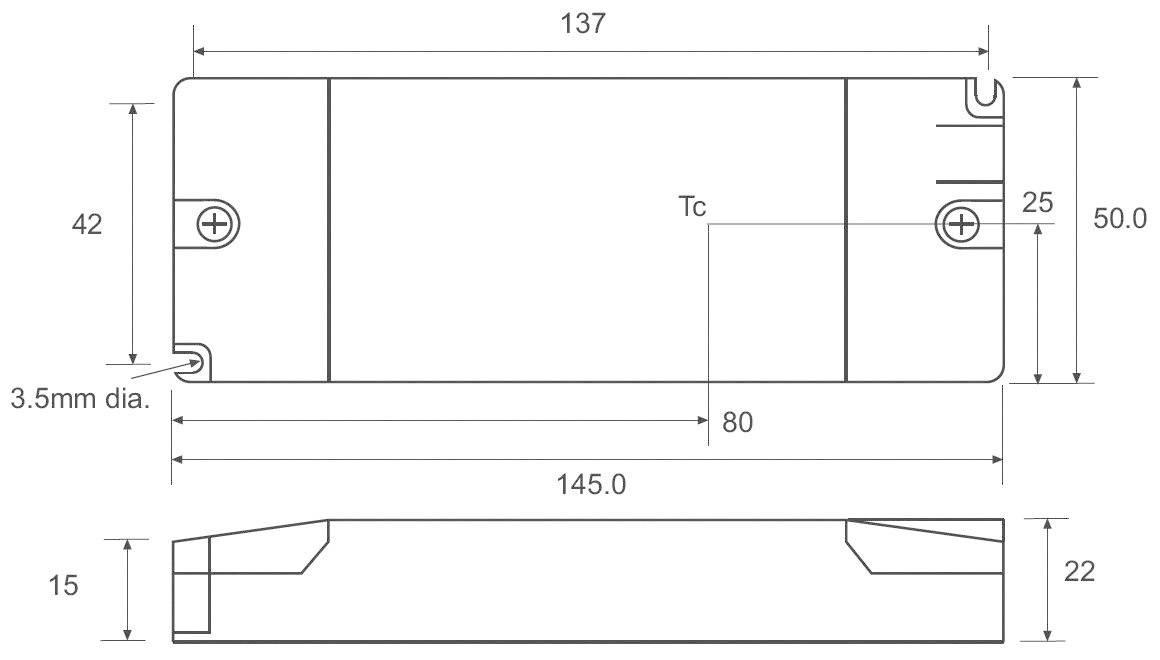 LED driver Recom Lighting RACD20-350, 20 W (max), 0.35 A, 6 - 56 V/DC
