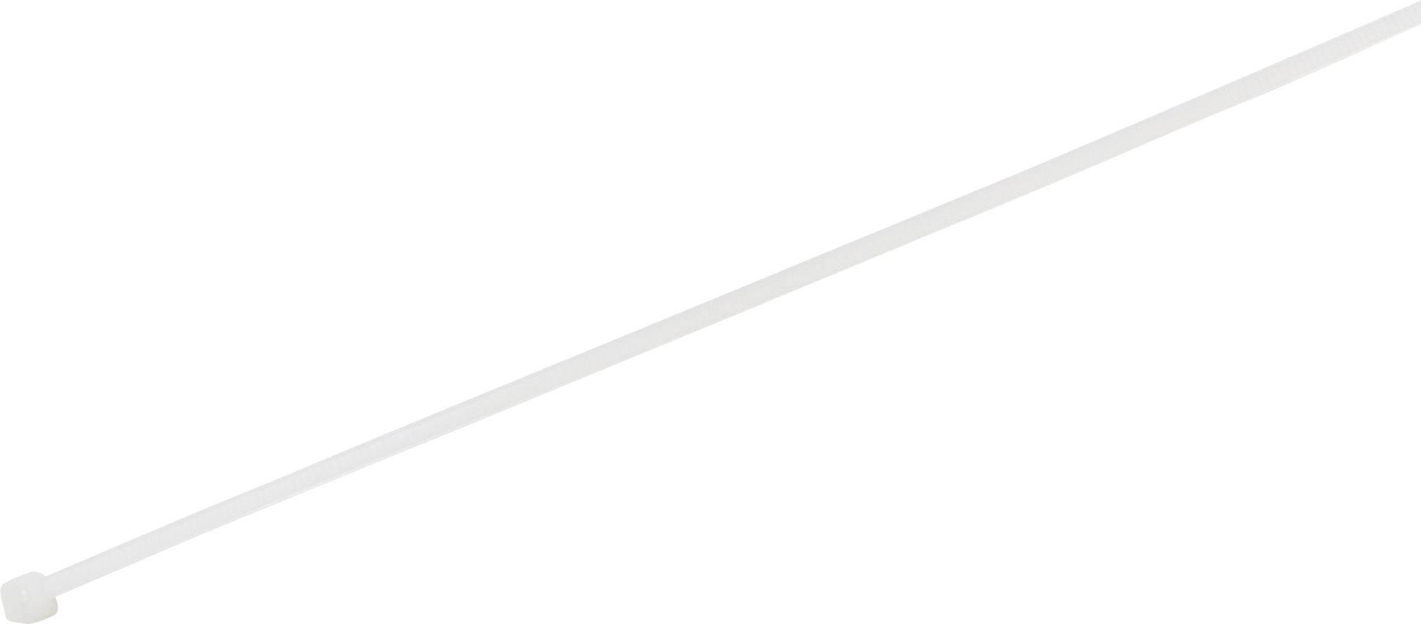 Stahovací pásky TRU COMPONENTS 1577929, 100 mm, bílá, 100 ks