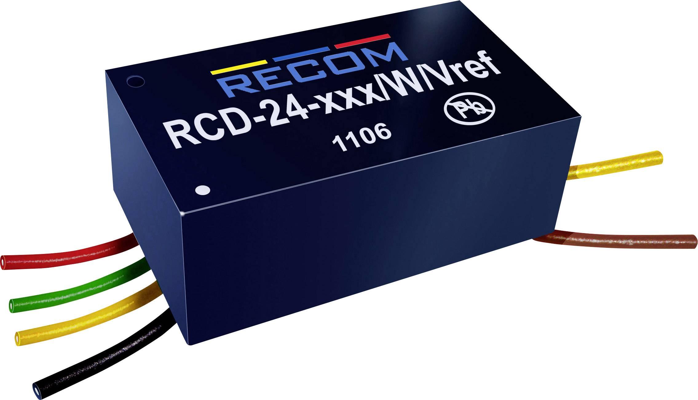 LED driver Recom Lighting, RCD-24-0.50/W, 36 V/DC, 500 mA