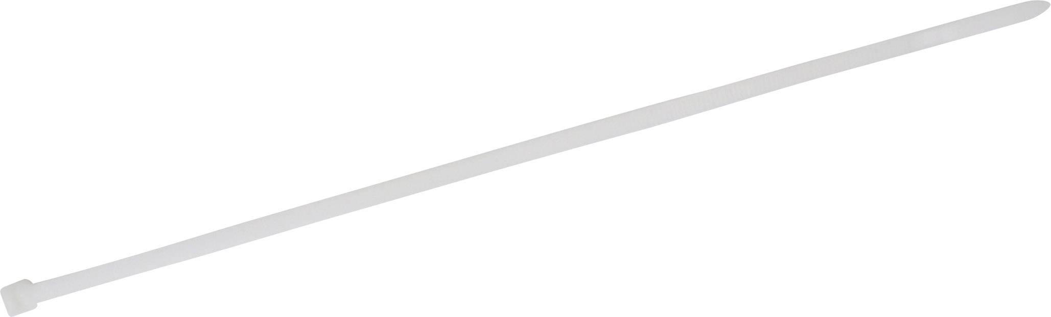 Stahovací pásky TRU COMPONENTS 1578063, 300 mm, bílá, 100 ks