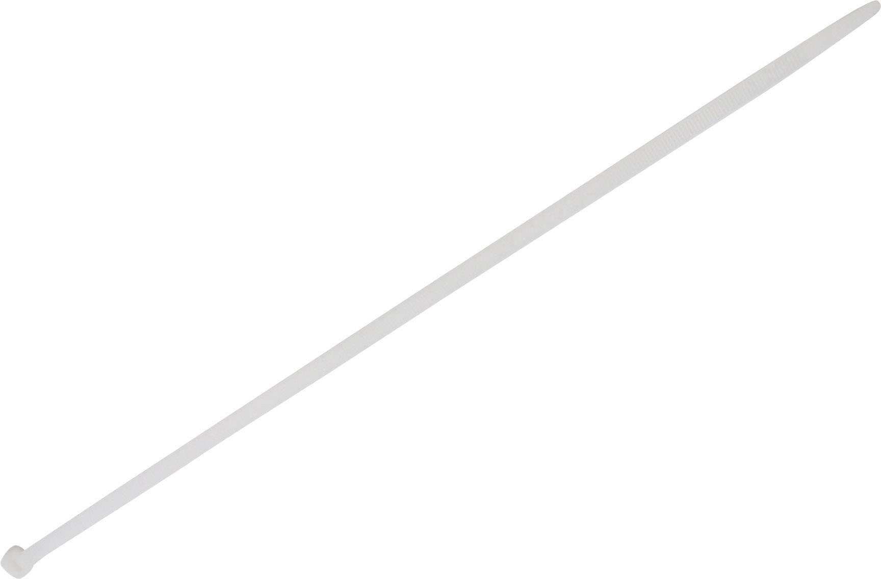 Stahovací pásky TRU COMPONENTS 1578087, 450 mm, bílá, 100 ks
