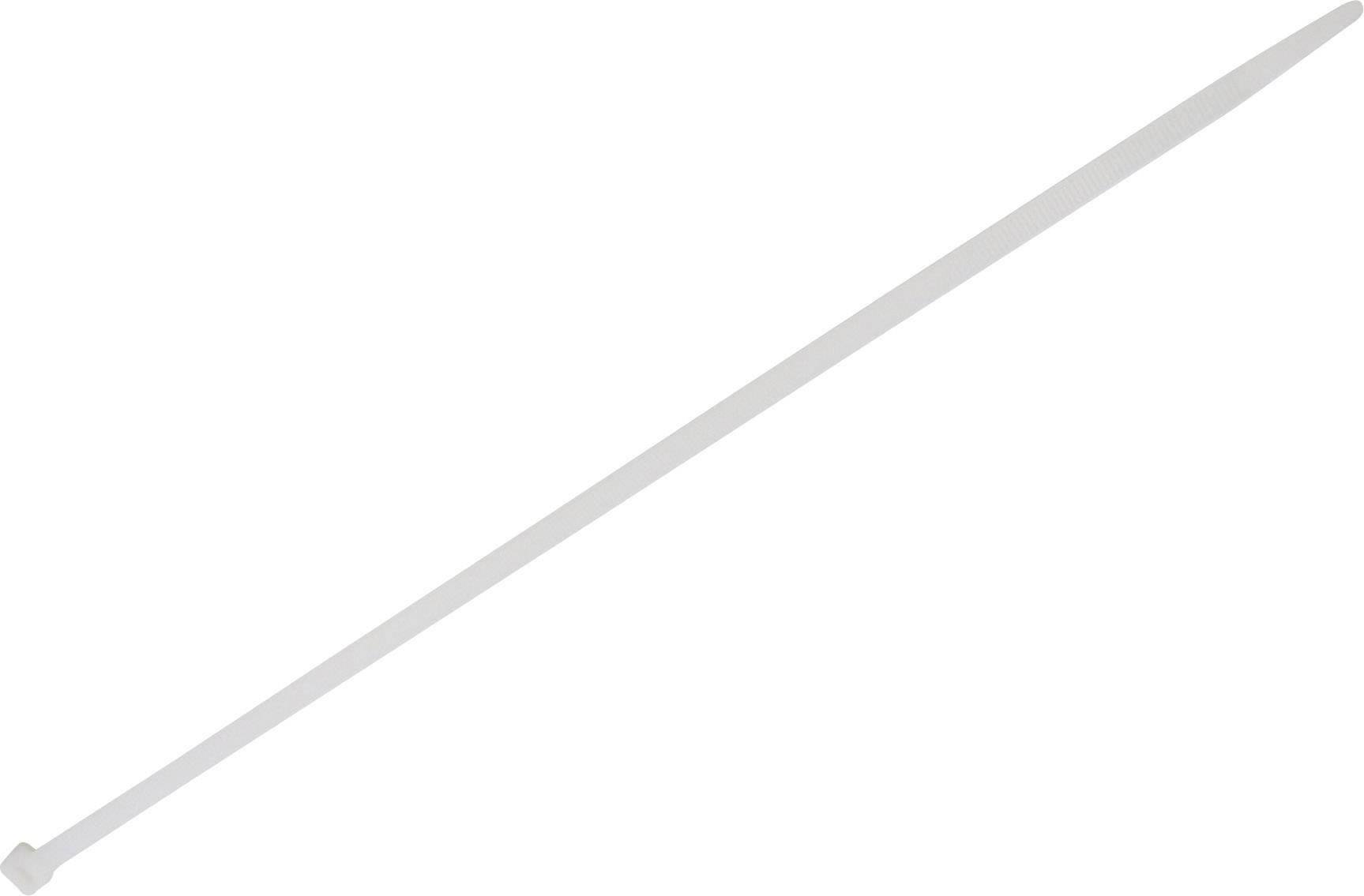 Stahovací pásky TRU COMPONENTS 1578093, 500 mm, bílá, 100 ks