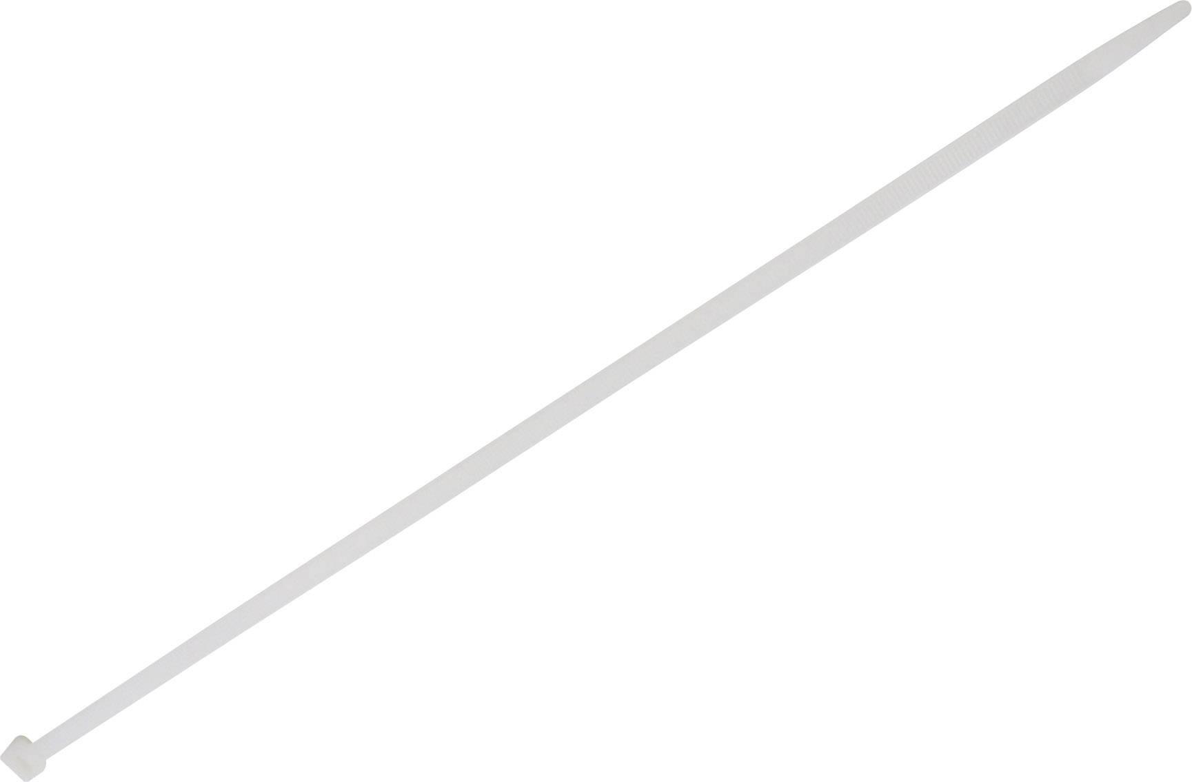 Stahovací pásky TRU COMPONENTS 1578105, 1000 mm, bílá, 100 ks