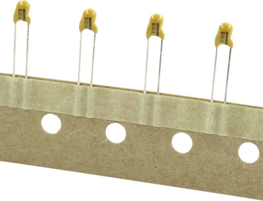Tantalový kondenzátor TANCAP CA42-106M025AT, THT 2.5 mm, 10 µF, 25 V, (š x v) 5.5 mm x 14 mm, 1 ks