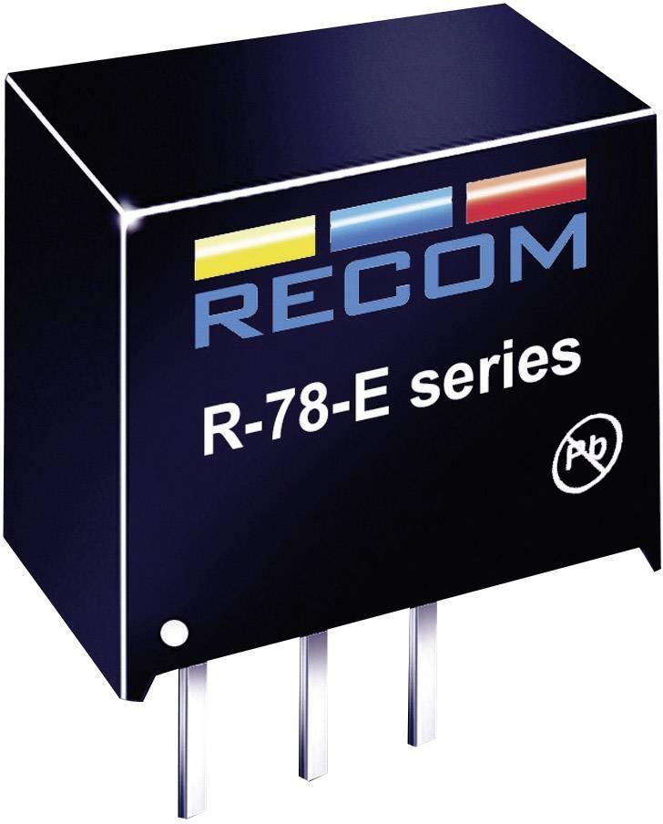 DC / DC menič napätia, DPS RECOM R-78E5.0-0.5, 24 V/DC, 5 V/DC, 500 mA