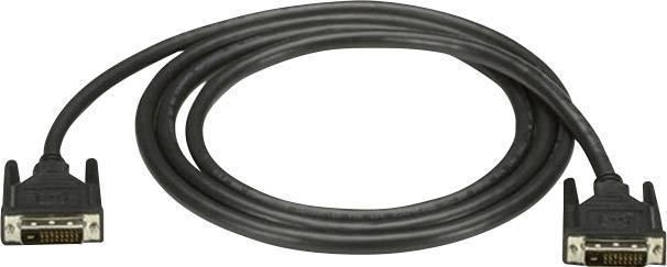 DVI kabel Black Box [1x DVI zástrčka 24+1pólová - 1x DVI zástrčka 24+1pólová] černá 0.9 m
