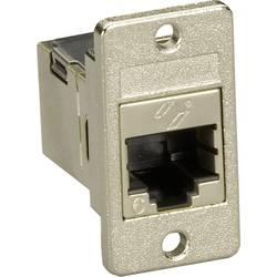 RJ45 sieťový adaptér Black Box FMT1021 CAT 6, [1x RJ45 zásvuka - 1x RJ45 zásvuka], strieborná
