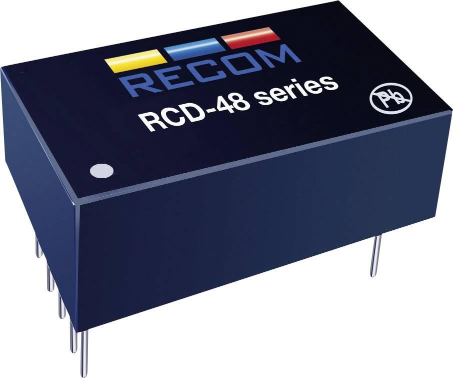 Napájecí zdroj LED Serie Recom Lighting RCD-48-0.35/W, 0-350mA, 9-60 V/DC