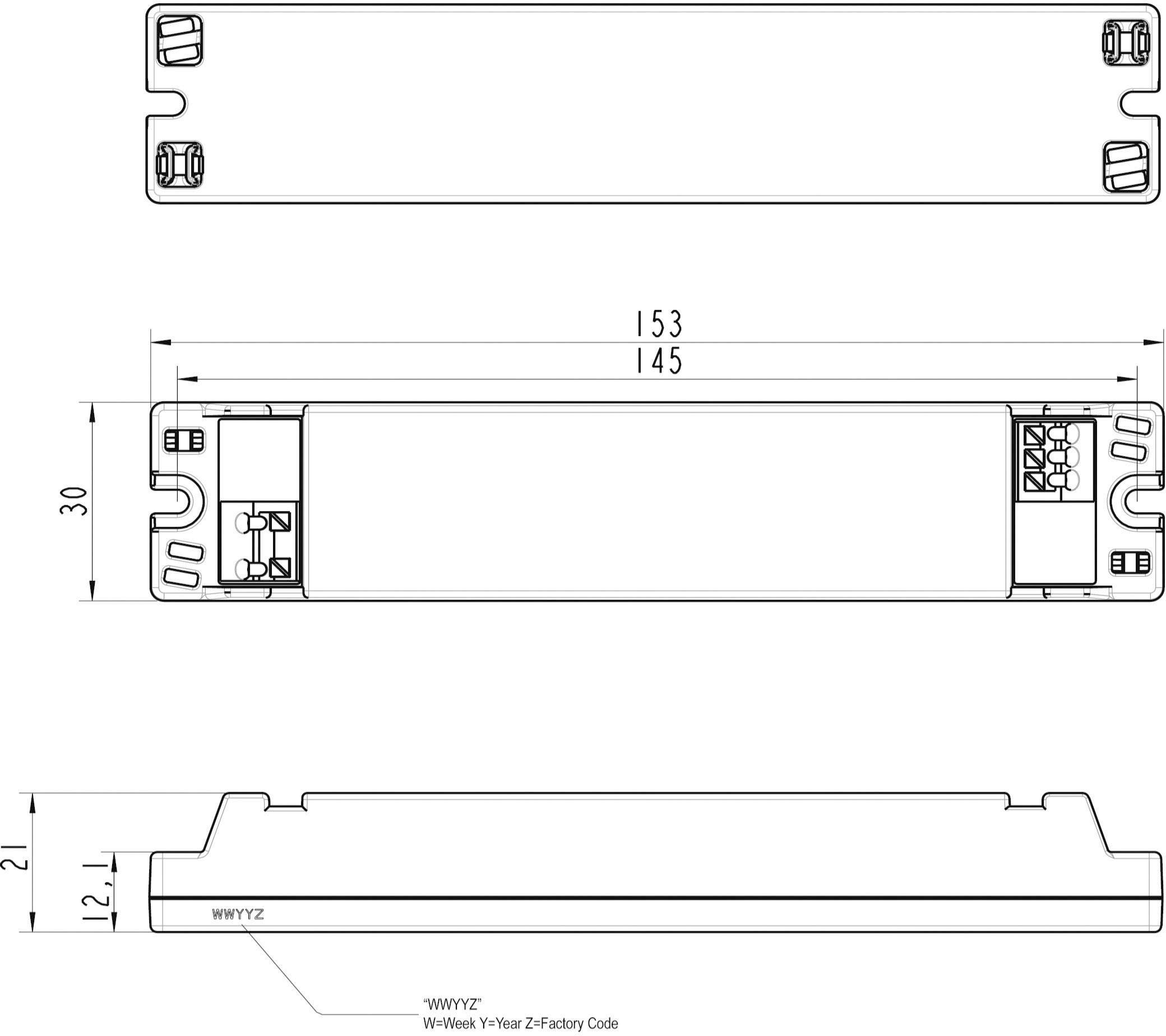 Napájací zdroj pre LED, LED driver LT20-28/700, 0.7 A, 5 - 28 V/DC