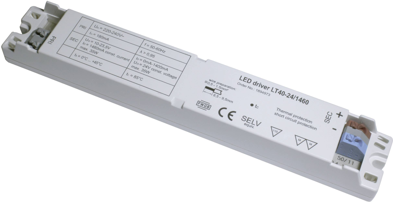 Napájací zdroj pre LED, LED driver LT40-24/1460, 1.46 A, 10 - 24 V/DC