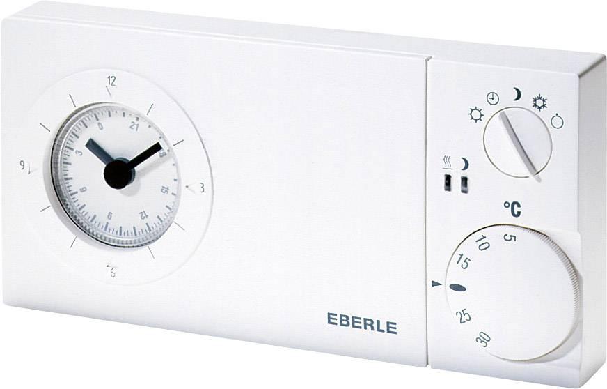 Izbový termostat Eberle Easy 3 SW, týždenný program, pod omietku, 5 do 30 °C