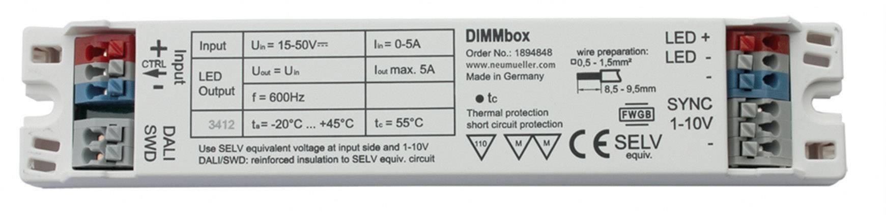 LED tlmenie DIMMbox, 5000 mA, prevádzkové napätie (max.) 50 V/DC