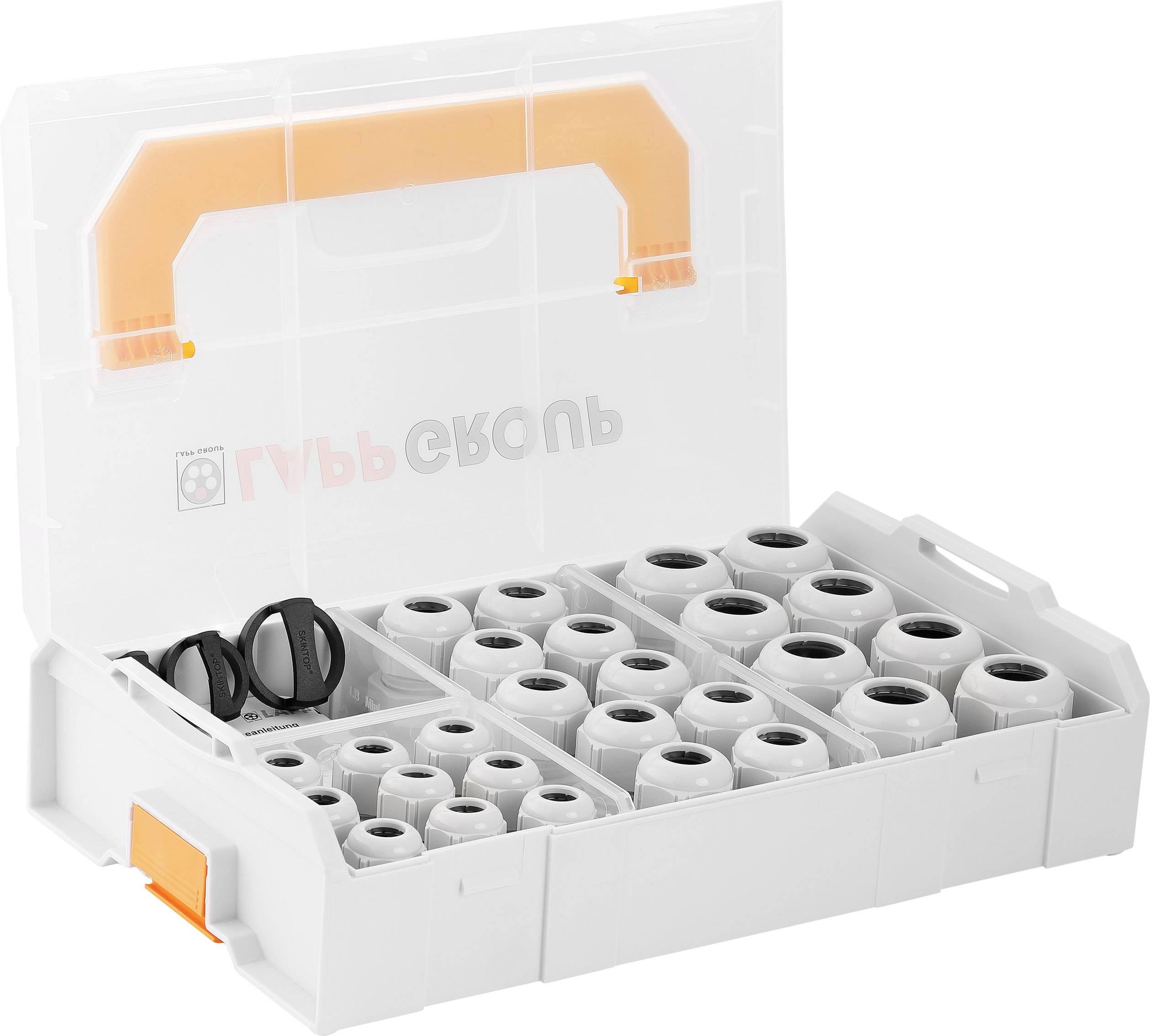 Súprava káblových priechodiek LappKabel SKINTOP® L-BOXX MINI CLICK, polyamid, striebrosivá (RAL 7001), 1 sada