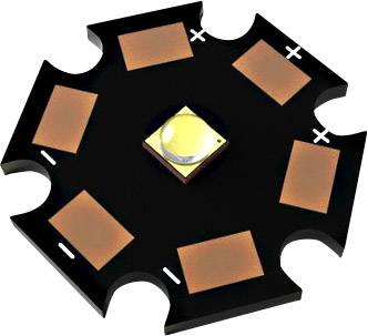 HighPower LED-modul TRU COMPONENTS TRU-LEDMO-STAR-152, 0.9 W, teplá biela