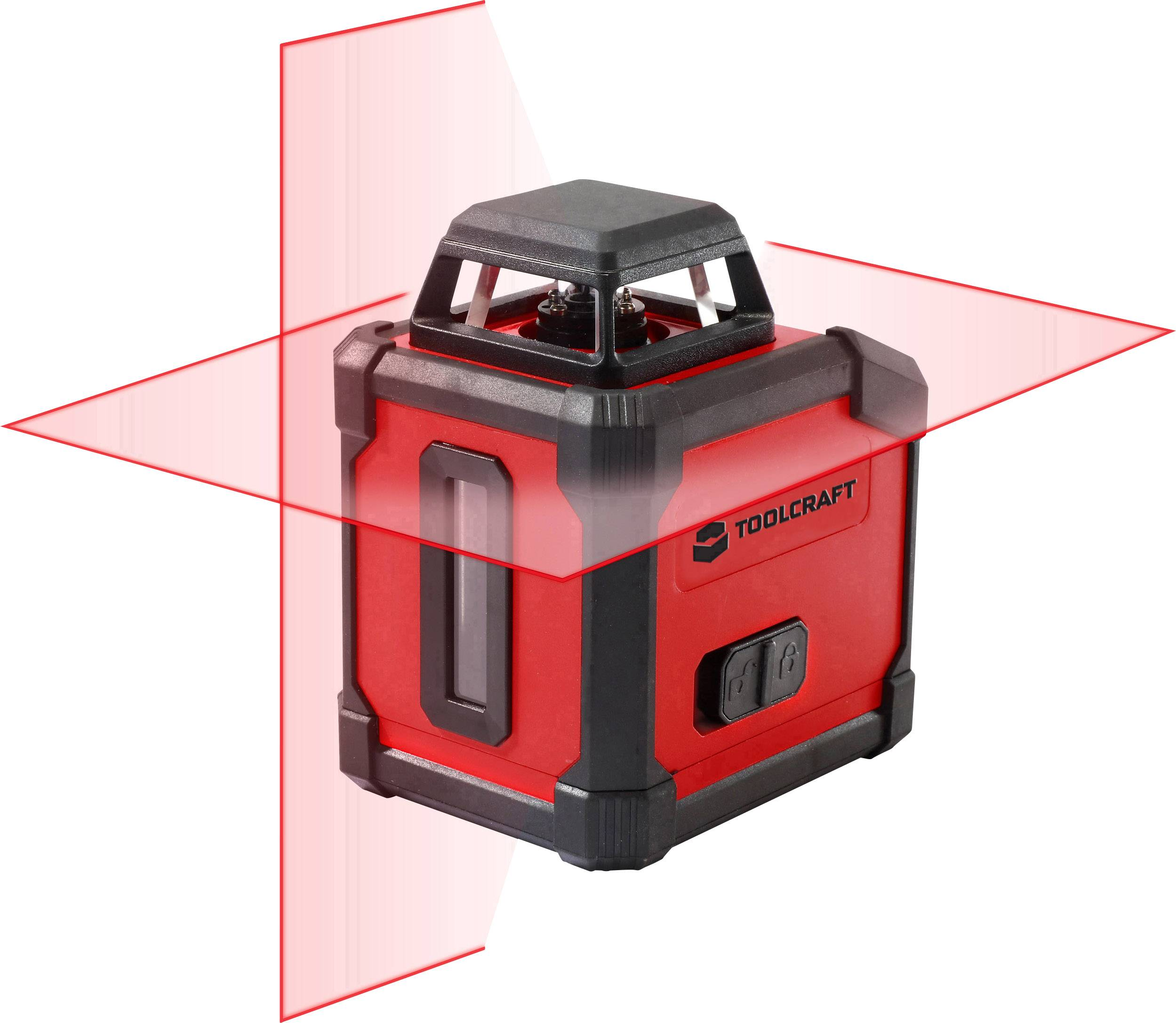 Křížová laserová vodováha samonivelační TOOLCRAFT HLL360, dosah (max.): 10 m, vlastní kalibrace výrobce