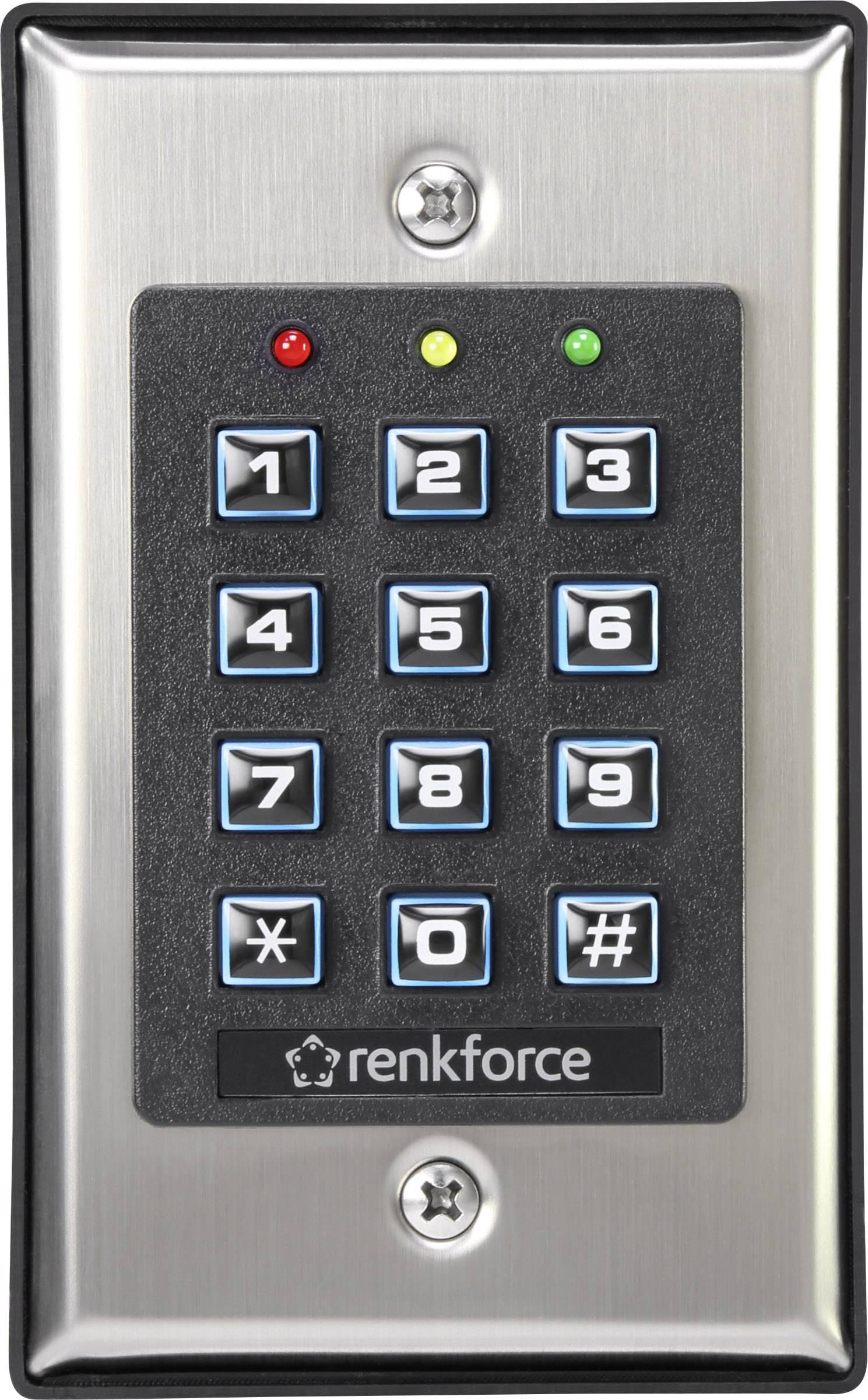 Kódový zámek s podsvícenou klávesnicí Renkforce 1582597