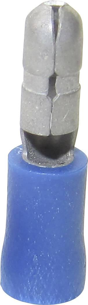 Kulatý faston TRU COMPONENTS 1583183, 1.50 - 2.50 mm², Ø pin: 4 mm, částečná izolace, modrá, 1 ks