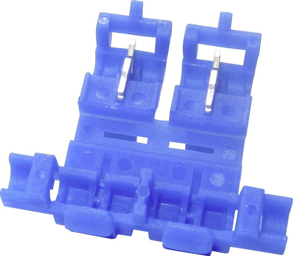 Samorezná rýchlospojka TRU COMPONENTS na kábel s rozmerom - , pólů 2, 1 ks, modrá