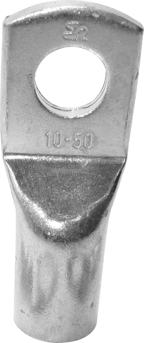 Trubicové kabelové oko TRU COMPONENTS 1583150, 180 °, M10, 10 mm², průměr otvoru: 10 mm, 1 ks