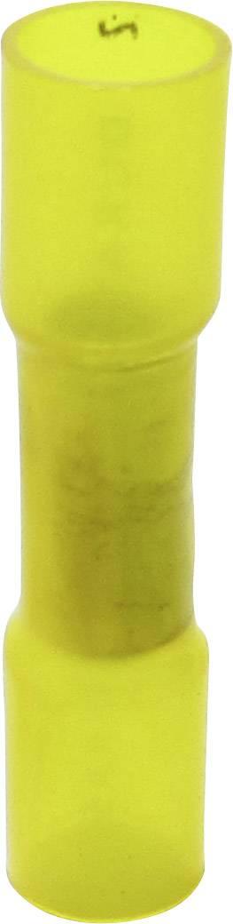 Krimpovací spojka se smršťovací bužírkou TRU COMPONENTS 1583182, 4 - 6 mm², plná izolace, žlutá, 1 ks