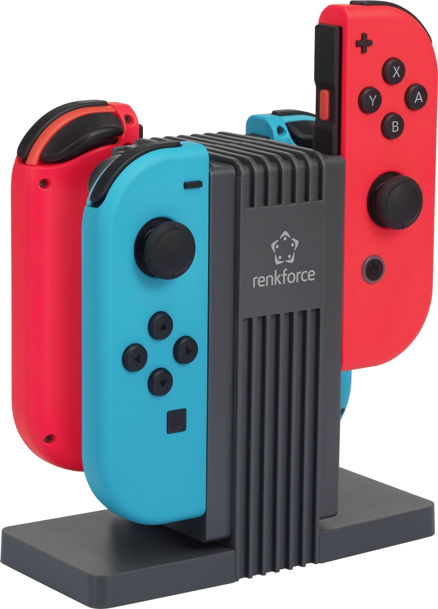 Nabíjačka na ovládače Joy Con ke konzole Nintendo Switch, Renkforce RL-LSN-400