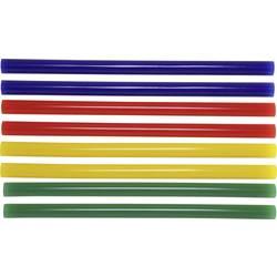 Lepiace tyčinky TOOLCRAFT TC-11200X8C 1586229, Ø 11 mm, délka 200 mm, 8 ks, žltá, modrá, zelená, červená