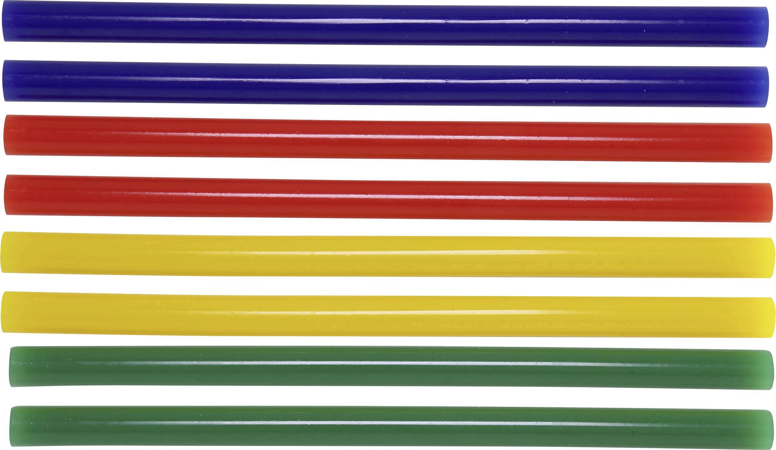 Lepicí tyčinky TOOLCRAFT TC-11200X8C 1586229, Ø 11 mm, délka 200 mm, 8 ks, žlutá, modrá, zelená, červená