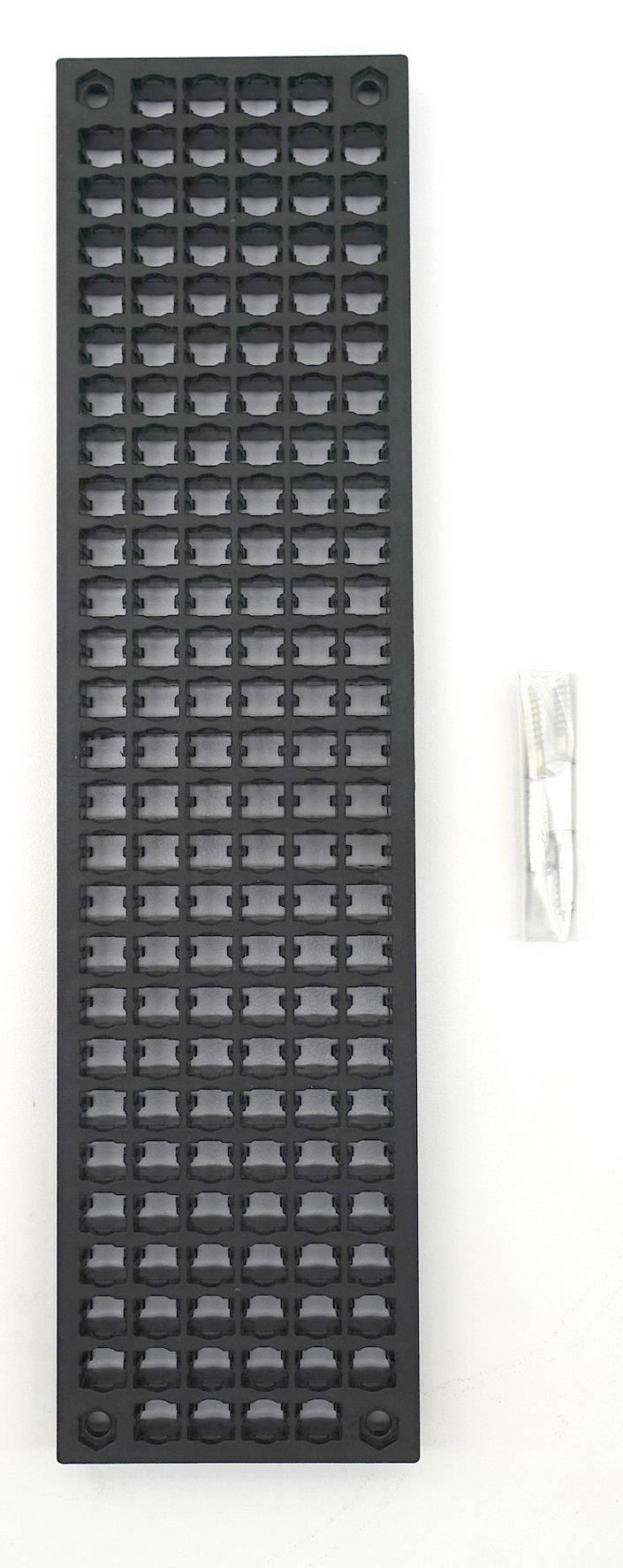 Děrovaná stěna 1586230, (d x š x v) 71 x 12 x 280 mm