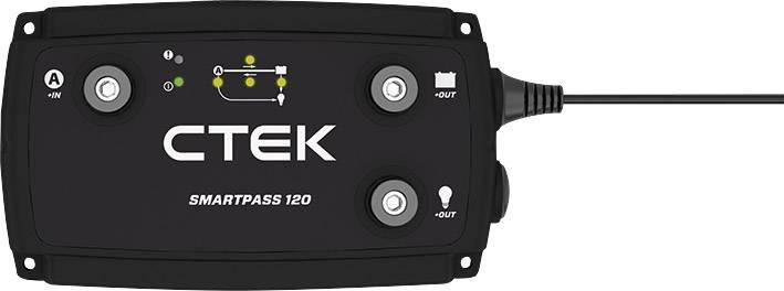 Dvojnásobná nabíjačka autobatérií CTEK SmartPass 120 40-185, 12 V, 120 A