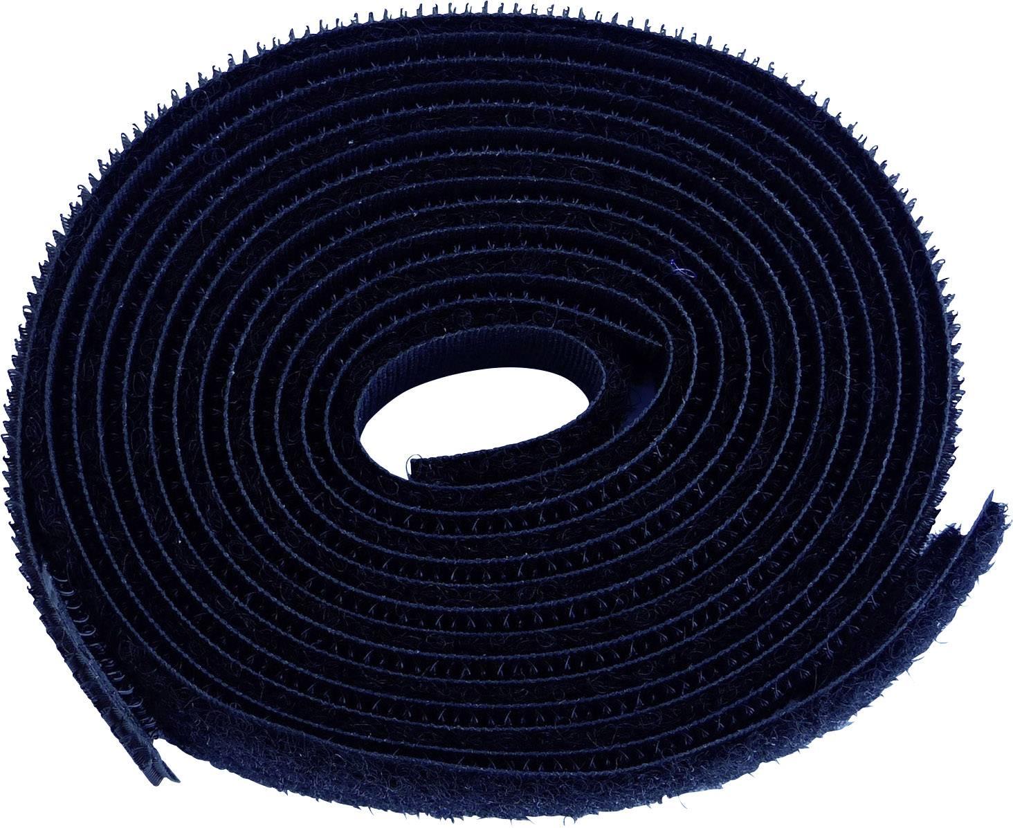 Na našitie pásik so suchým zipsom TRU COMPONENTS 680-330-Bag, čierna, 1 pár