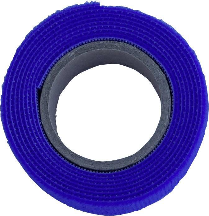 Pásek se suchým zipem TRU COMPONENTS 910-131-Bag, (d x š) 1000 mm x 20 mm, modrá, 1 m