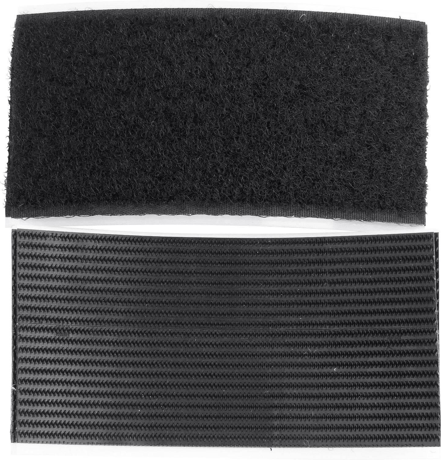 Lepiaci pásik so suchým zipsom TRU COMPONENTS 730-330-2-Bag, (d x š) 100 mm x 50 mm, 1 pár
