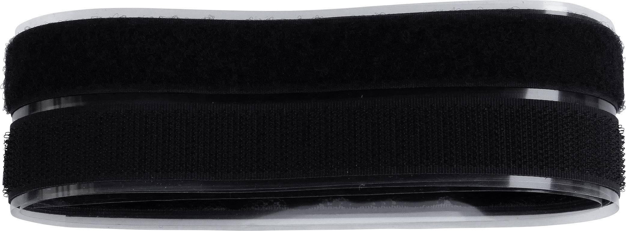 Lepiaci pásik so suchým zipsom TRU COMPONENTS 909-330-Bag, (d x š) 1000 mm x 20 mm, čierna, 1 pár